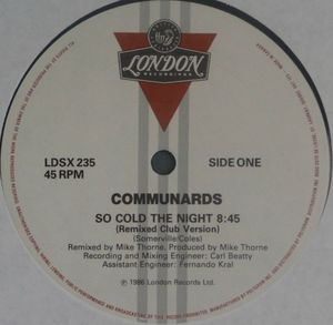 So Cold The Night Canada 12inch side 1