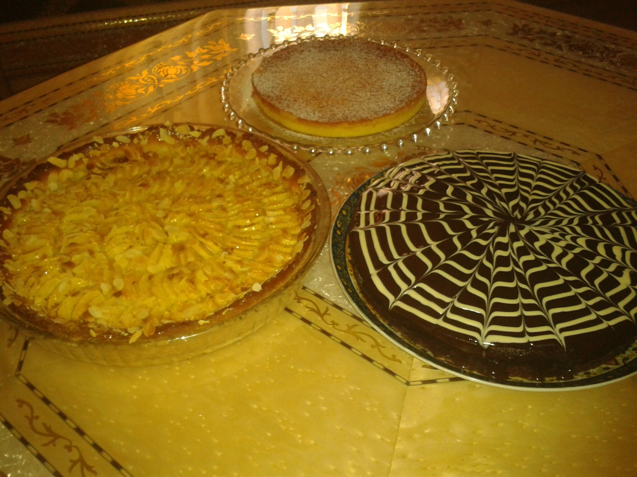 Moelleux et tarte briochée aux pommes