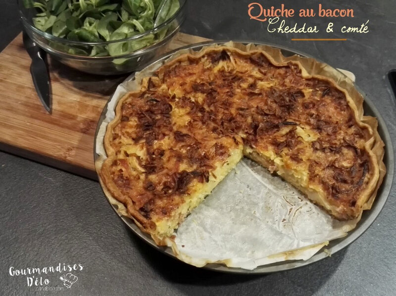 Quiche bacon cheddar comte (8)