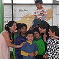 con los chiquillos del Liceo en el Portal
