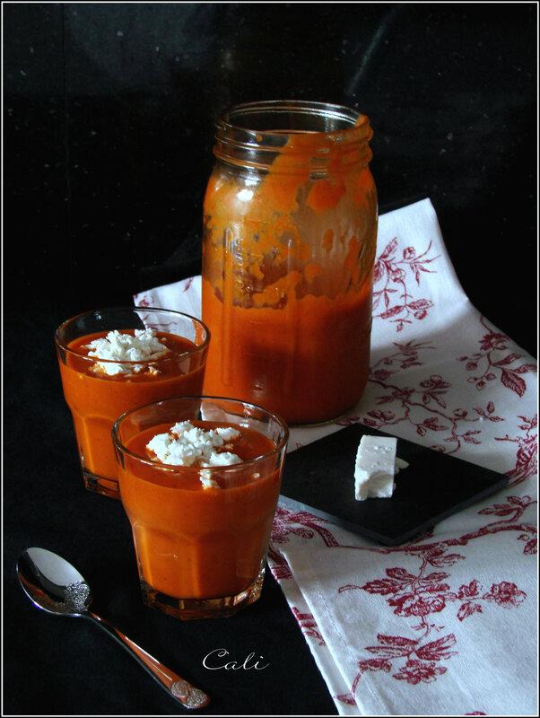 Soupe Froide Poivrons-Tomates & Feta de Chèvre 001