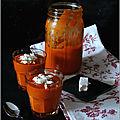 Soupe froide poivrons-tomates & feta de chèvre