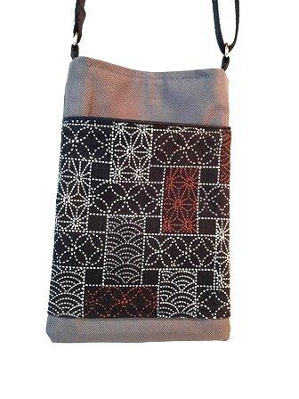 pochette portable motif etoiles d'alsona pointillé rouge blanc noir pw