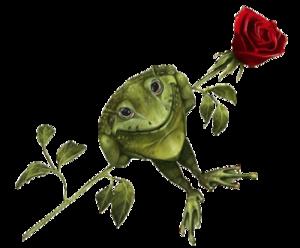 grenouille à la rose