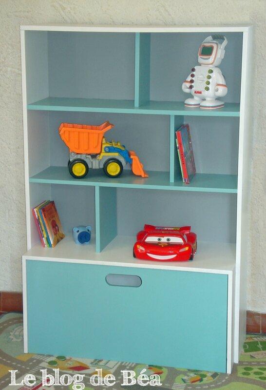 DIY étagère pour chambre d'enfant et coffrfe à jouets