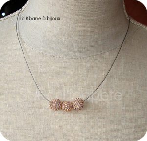 collier strass or
