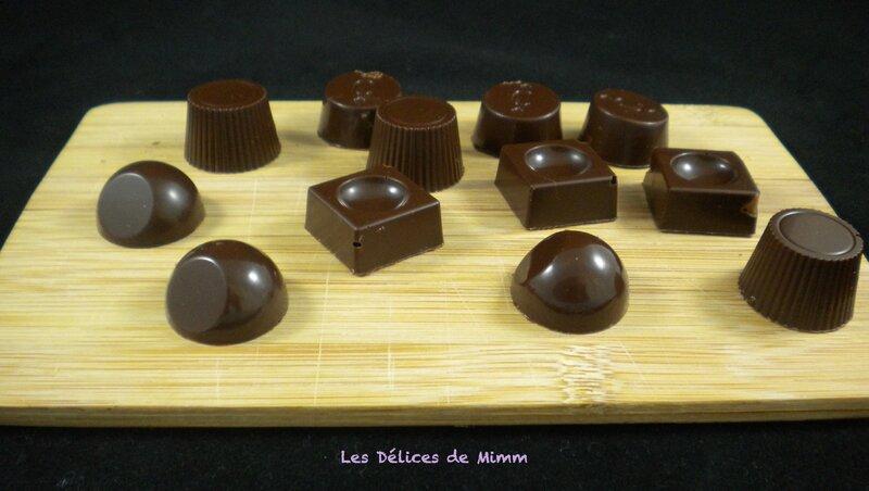 Pralines au caramel (chocolats fourrés) 2