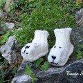 Chaussons pour bébé (modèle sur le blog d'Isaquarel)