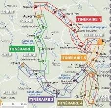 """Résultat de recherche d'images pour """"carte canaux de bourgogne à vélo"""""""