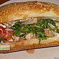 Sandwich à la sara.
