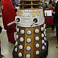 Maquette de Dalek sur le stand Anigetter