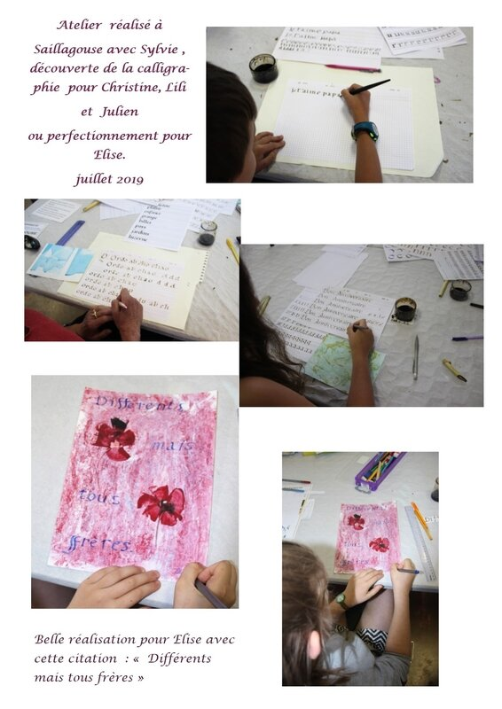 atelier Elise, Christine, Lili et Julien