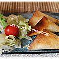 Samoussas légumes poulet