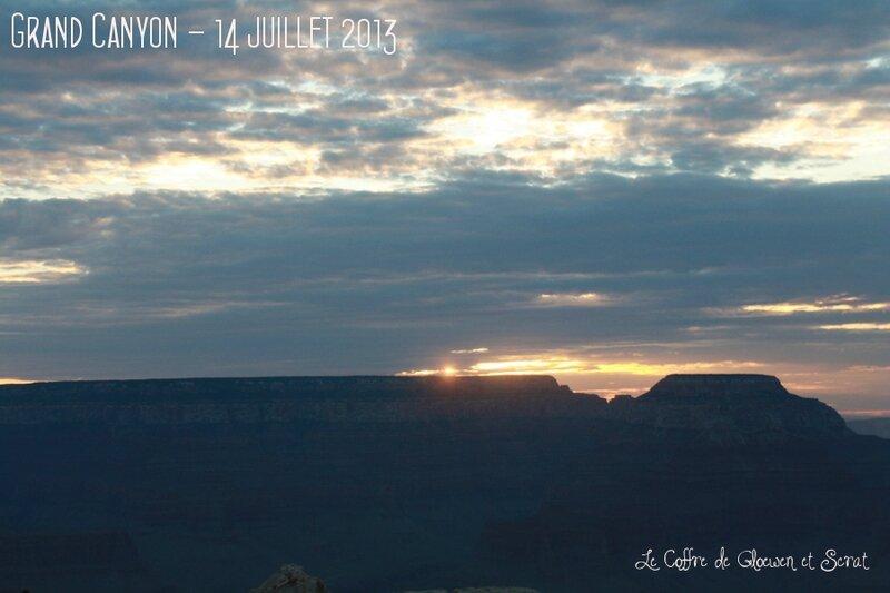 Le lever du soleil sur le Grand Canyon chez Gloewen et Scrat