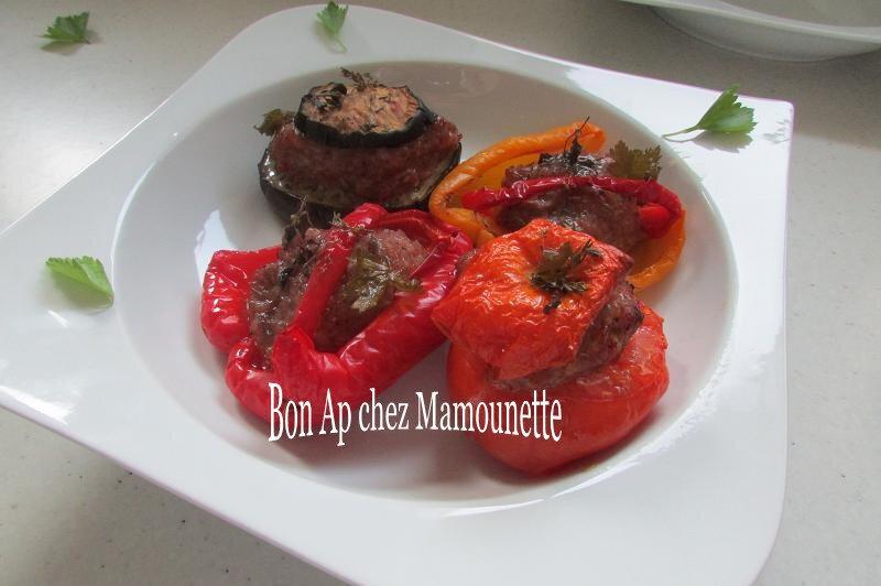 aubergine tomates poivrons farcis 004-