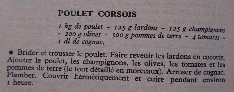 Poulet corsois - recette