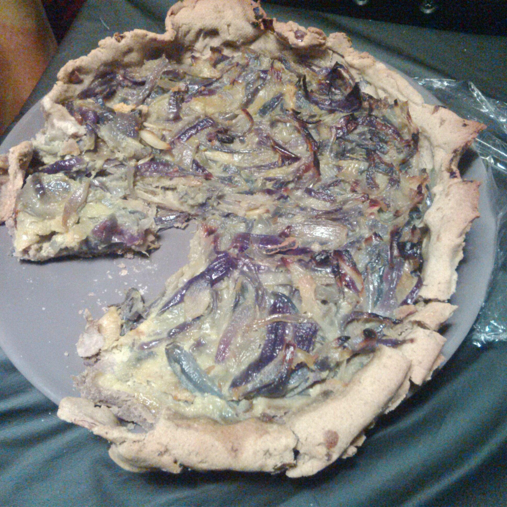 Recette tarte aux oignons et échalotes sans gluten