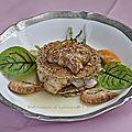 Millefeuille de st. jacques au bouillon thaï ****