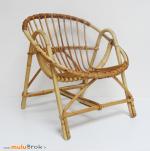 fauteuil enfant rotin corbeille muluBrok vintage