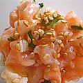 Tartare de saumon en verrine