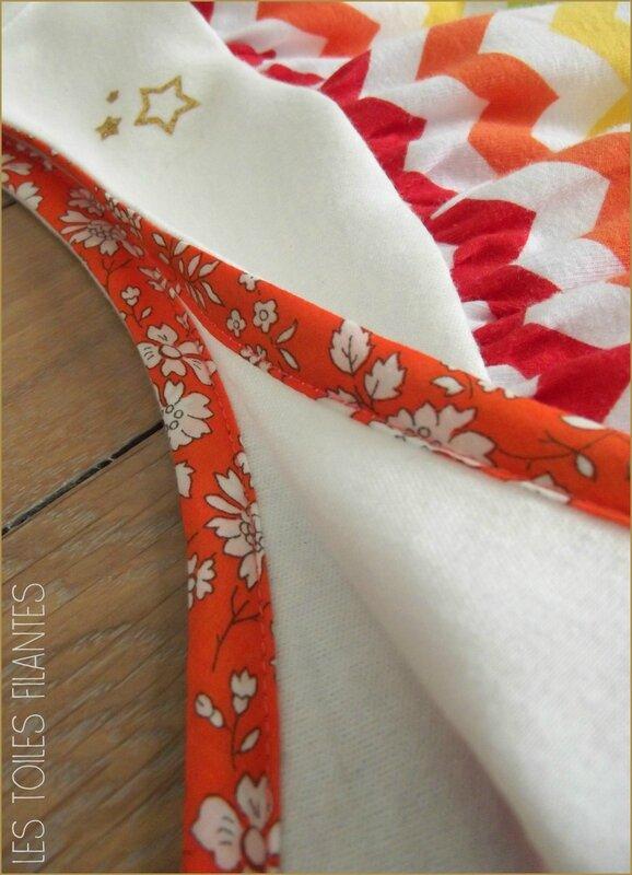 Robe Burda chevrons multicolores6
