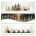 24551470-Collection-of-banners-with-Christmas-landscapes-Stock-Photo