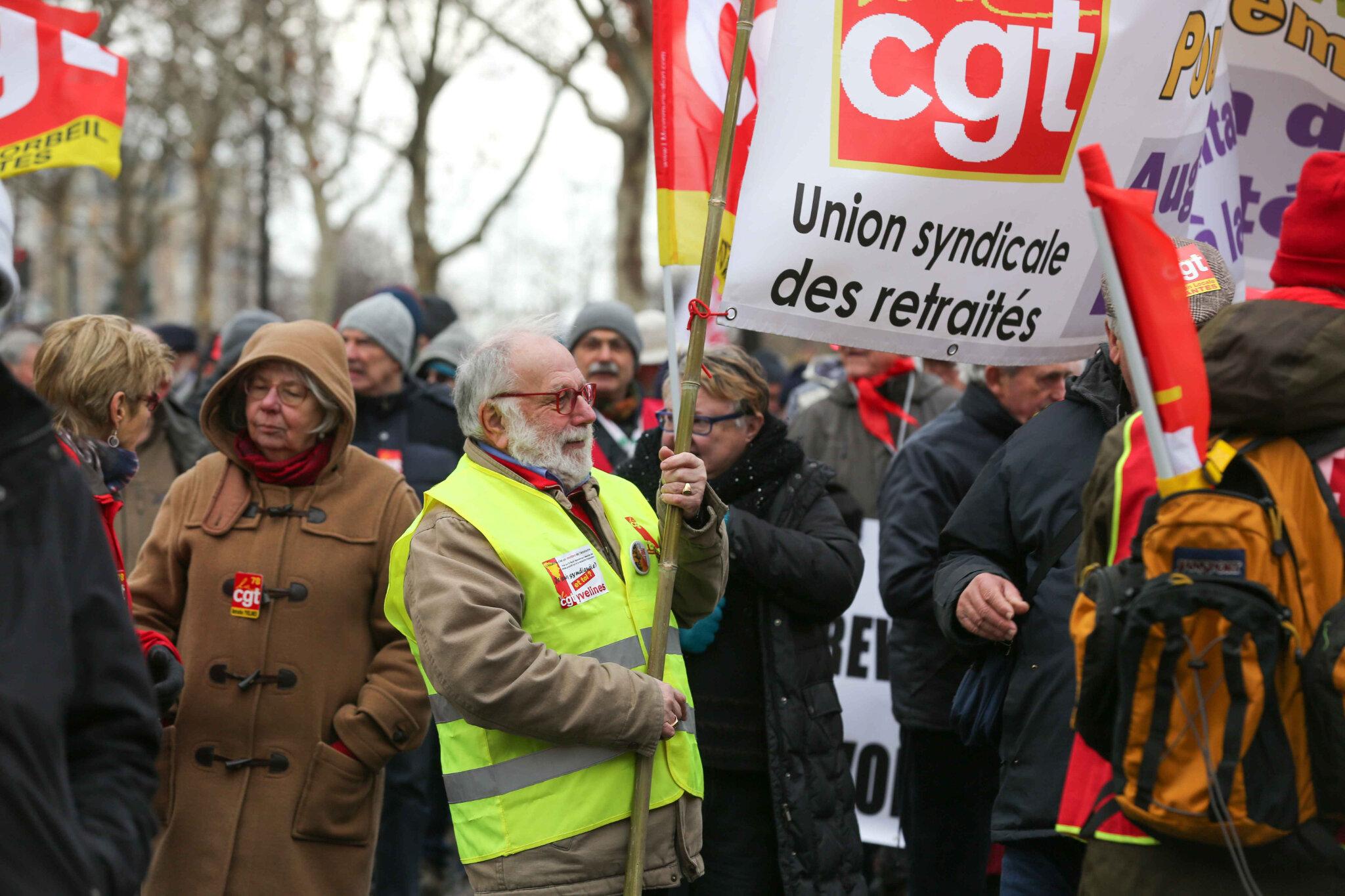 Retraités : « le coût de la vie ne cesse d'augmenter et nos pensions de baisser ». © Michel Stoupak. Jeu 31.01.2019, 14h53m14.