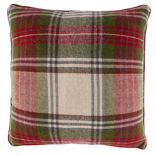 Tesco-RedGreenTartanCushion-10