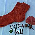 Des chaussettes torsadées pour le défi d'automne