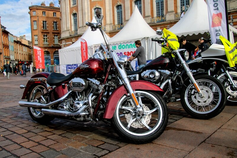 Quelques-unes des Harley Davidson du Toulouse Chapter