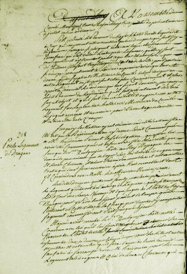 Le 30 juillet 1789 à Mamers : où loger les Dragons ?
