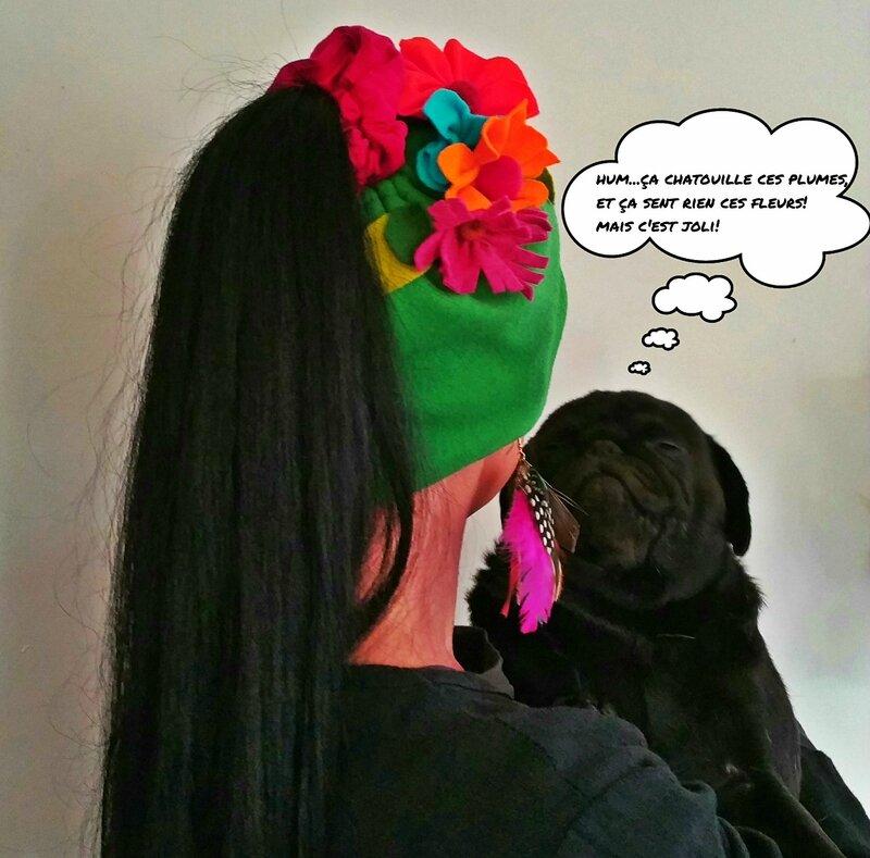 chapeau fleur hortense