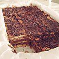Gâteau aux thé brun & chocolat