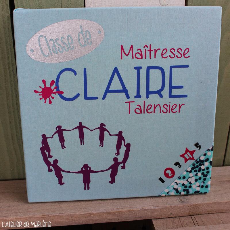tableau personnalisé Maîtresse Claire