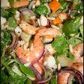 Salade de la mer et blinis de saumon