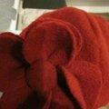 Chapeau AGATHE en laine bouillie rouge (1)
