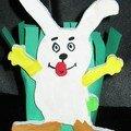 lapin décoré par les enfants