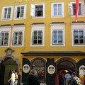 La maison où est né Mozart, il y a vécu jusqu'à 17 ans