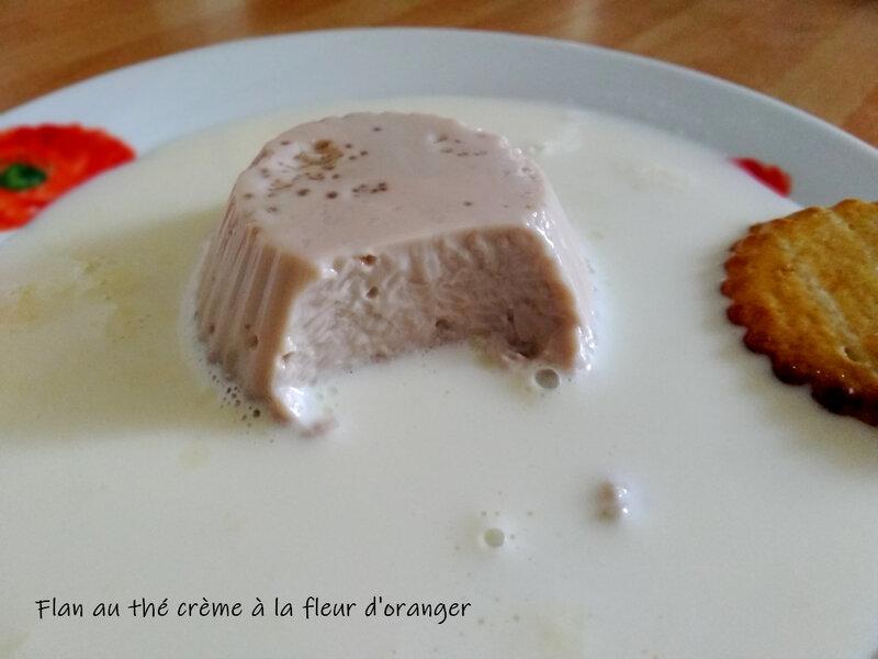 flan au thé crème à la fleur d'oranger