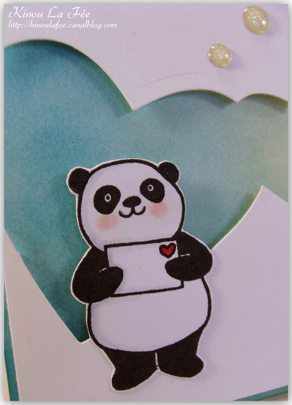 Carte Pandas Festifs Coeurs 3