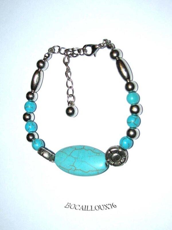 Bracelet HOWLITE Turquoise 6 (4)