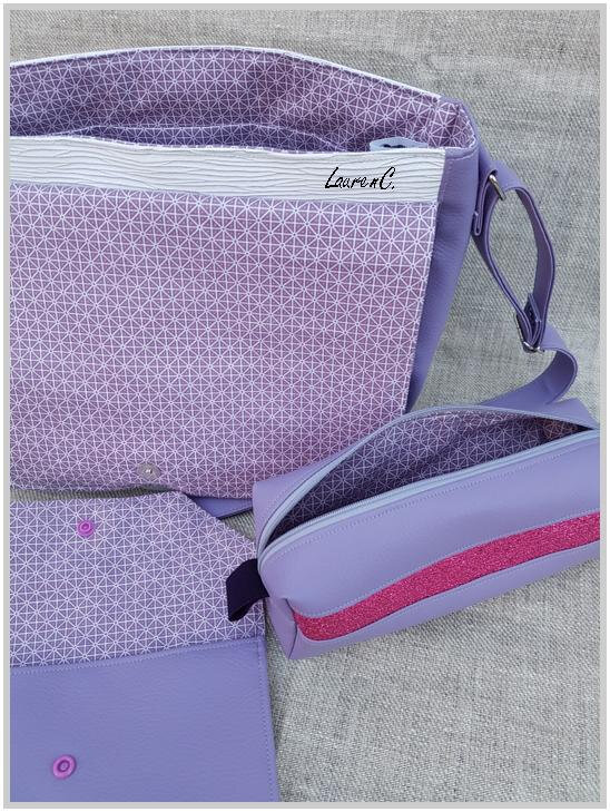 SAC SIMILI PICASSO MAUVE ENSEMBLE INTERIEUR