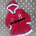 *robe pour petite maman noël, 18 mois