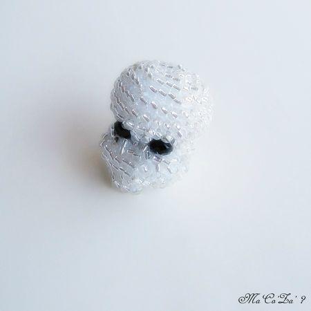 crane de cristal en perle crochet