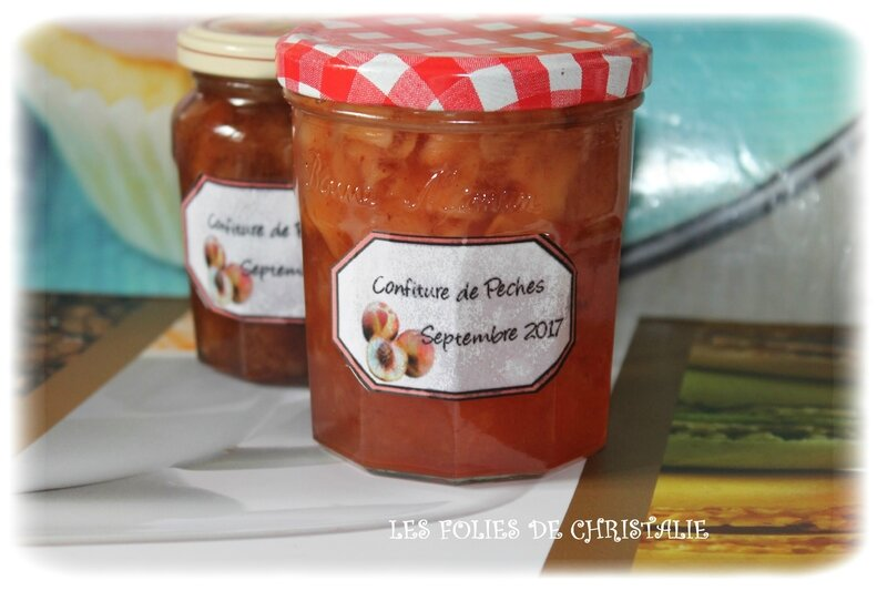 Confiture pêches 7