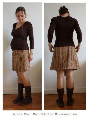 jupe grossesse velours 1