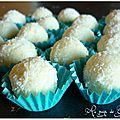 Bouchées à la noix de coco au coeur de nutella
