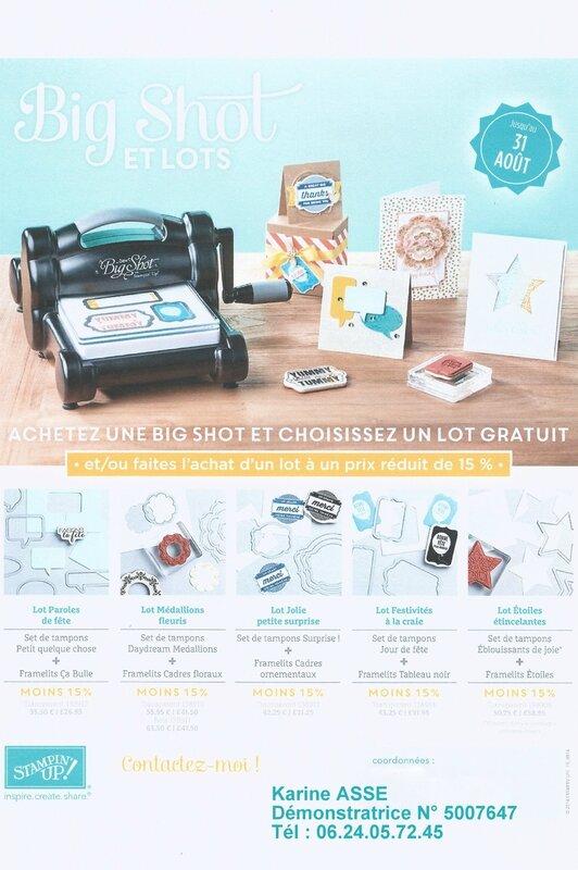 promo Big shot du 1er au 31 août 2014