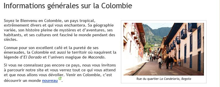 COLOMBIE HISTOIRE 1