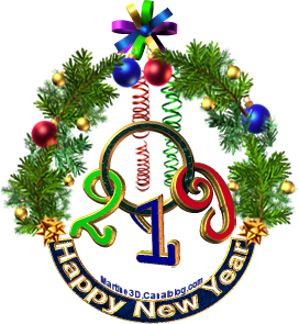 2019-Happy New Year boules decorations